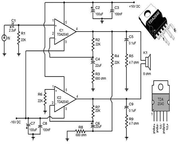 600 watt amplifier circuit