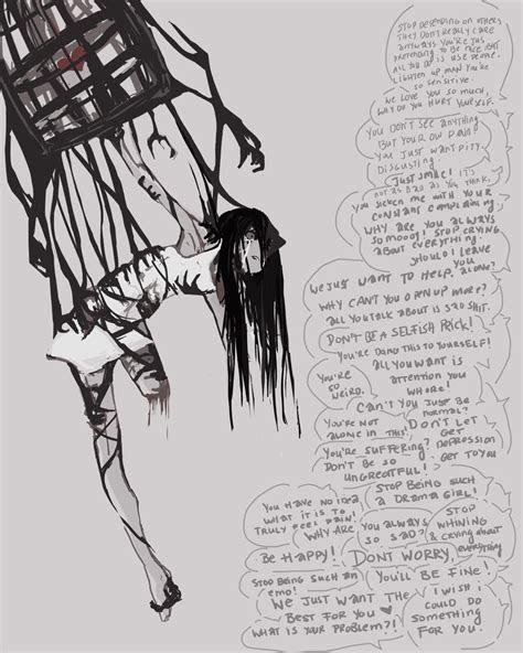 sketch     depression  paintausea  deviantart