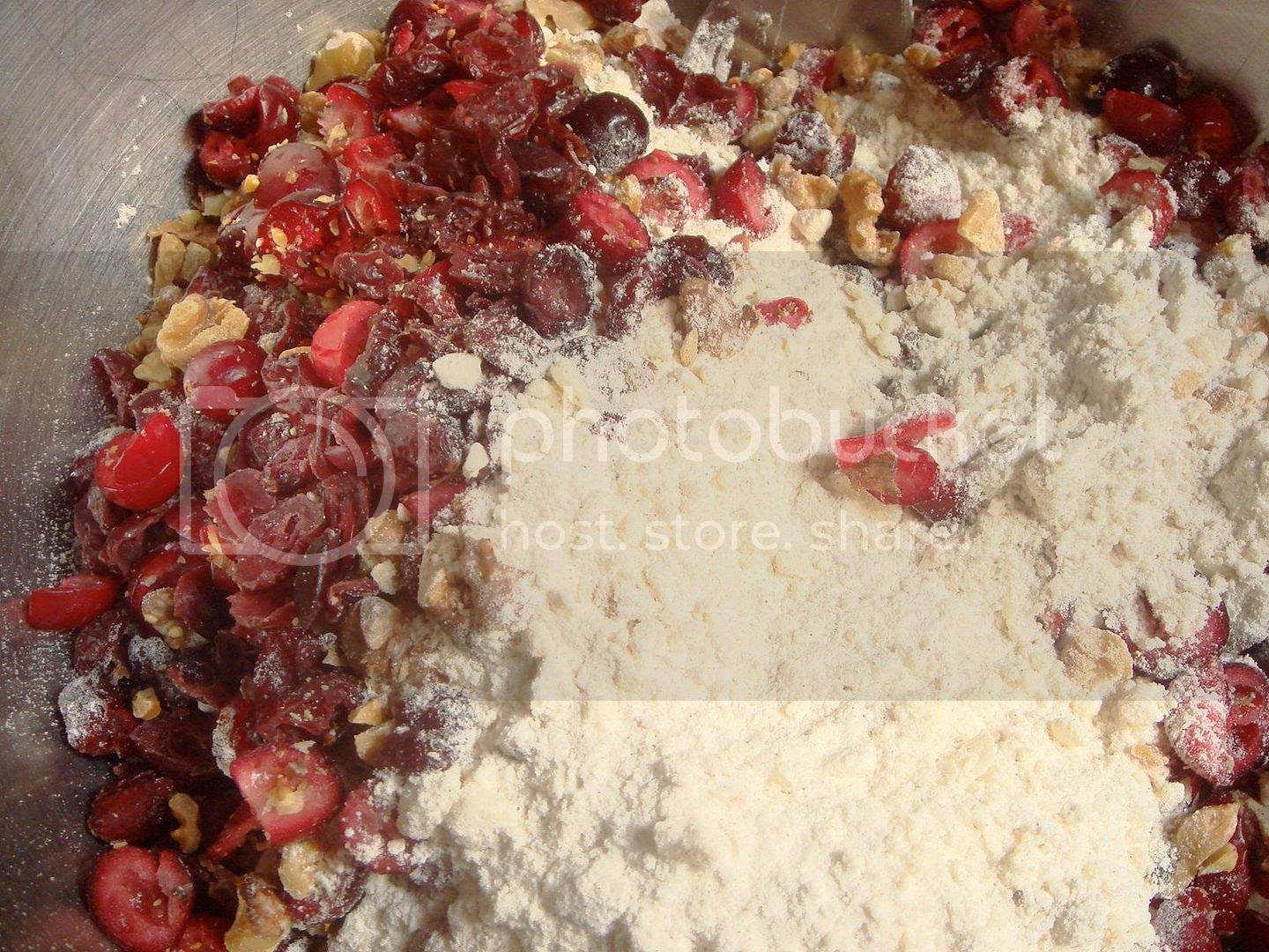 dry stuff and cranberries