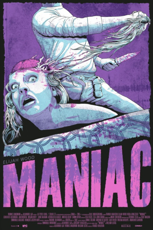 Here's a new one sheet for Maniac, written by Alexandre Aja (Haute Tension) and starring Elijah Wood.