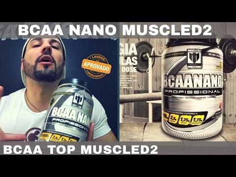 BCAA NANO MUSCLED2 Diminui Fadiga e Mantém Massa Magra Aumentando a Construção Muscular
