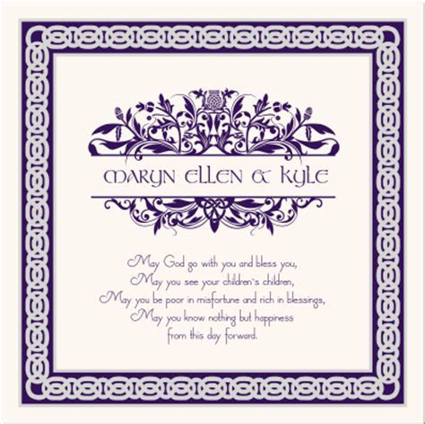 Scottish Thistle Celtic Wedding Programs Irish Wedding