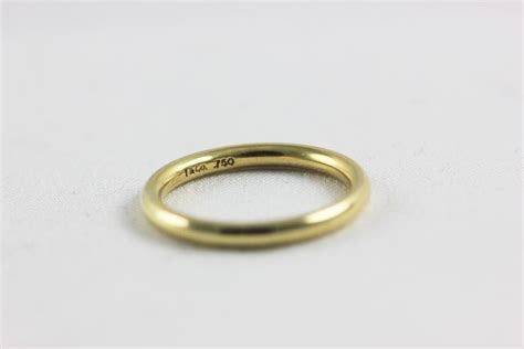Tiffany & Co. Yellow Gold Vintage Co Wedding Band Ring