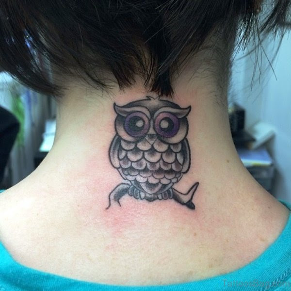 64 Attractive Owl Tattoos On Neck