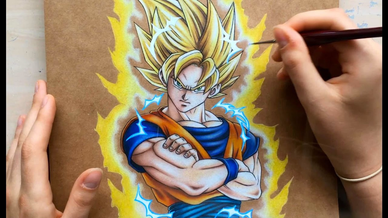 Dragon Ball Z Goku Drawing At Getdrawings Com Free For Personal