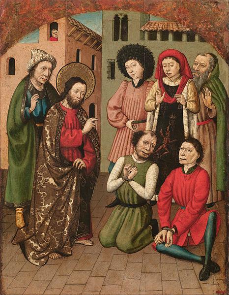 File:Master of Saint Bartholomew - Saint Bartholomew Exorcising - Google Art Project.jpg