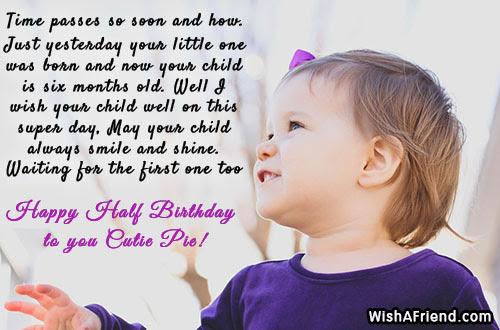 Six Months Birthday Wishes