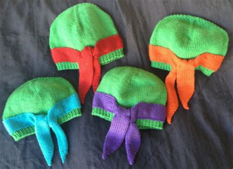 Hand Knit Ninja Turtles Beanies   Shut Up And Take My Money