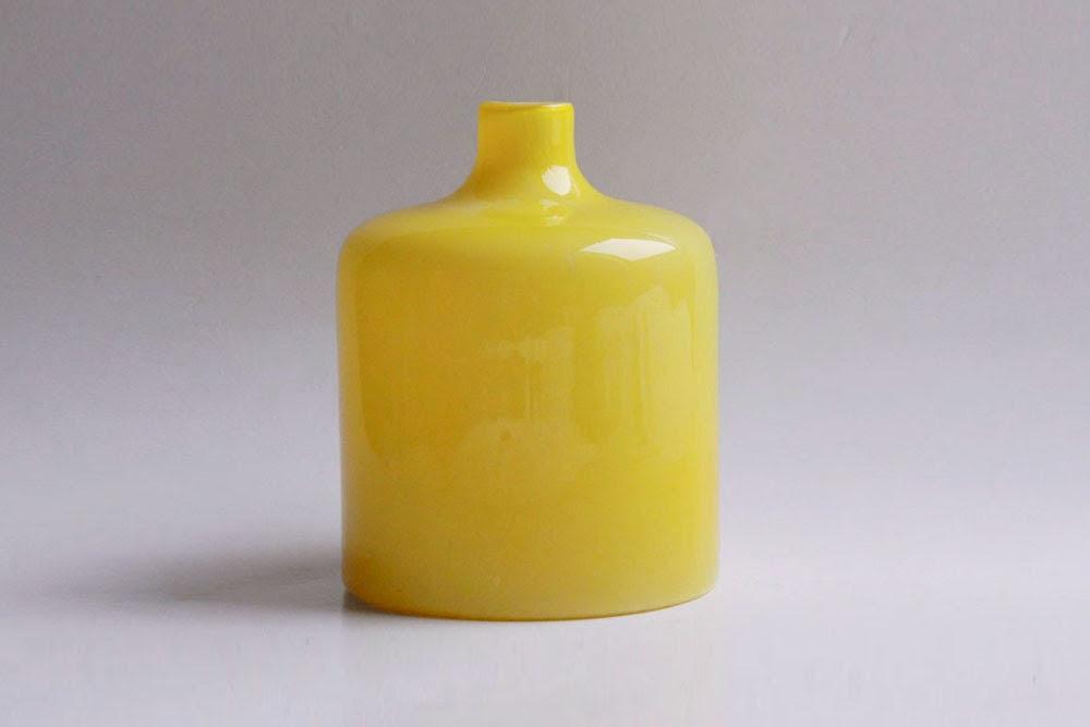 Vintage Yellow Vase - Holmegaard - 1001vintage