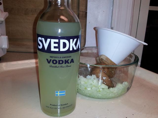 Garlic vodka