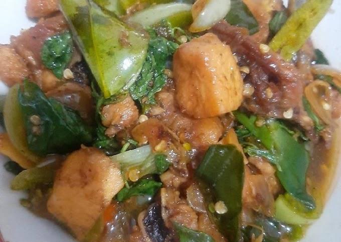 Resep Mudah Ayam tumis kemangi pedas manis Tiada Duanya