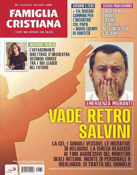 La copertina di Famiglia Cristiana © ANSA