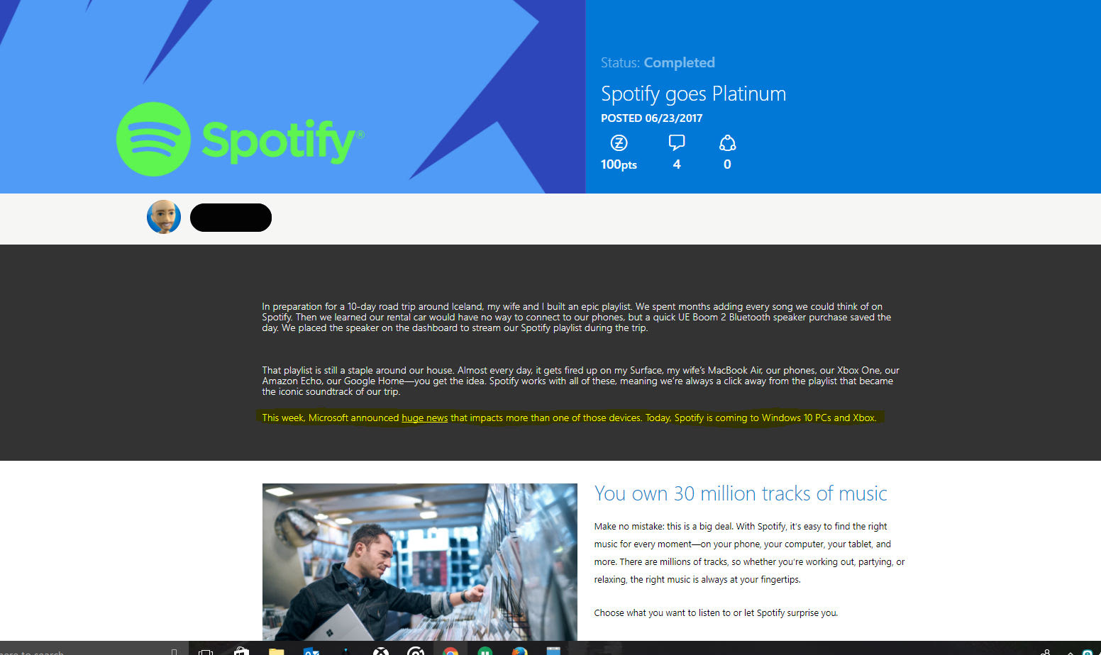 Rumor: Spotify might be hitting the Xbox One soon screenshot