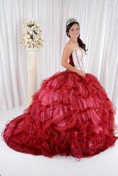 1000  images about Red Quinceanera Dresses on Pinterest