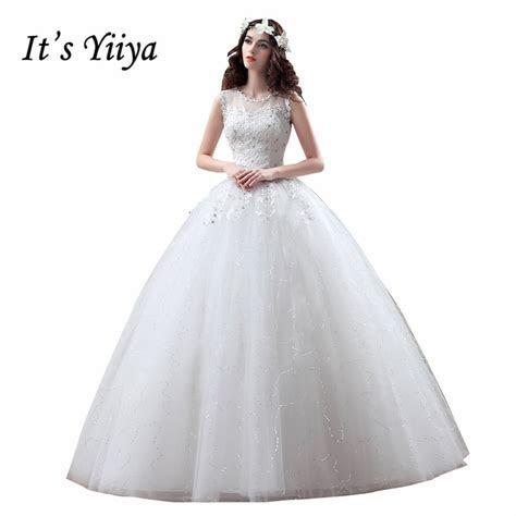Free shipping YiiYa 2016 new cheap white wedding gowns