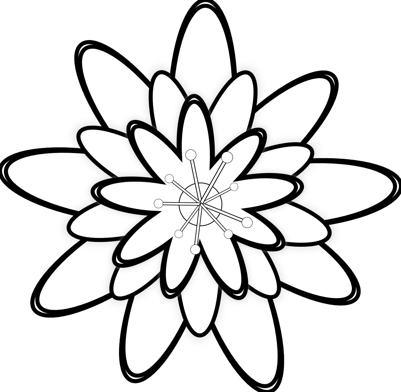 46 Gambar Hitam Putih Taman Bunga