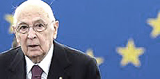 "Napolitano, ""guardiano"" dell'euro"