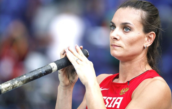 Isinbayeva Mundial de atletismo moscou (Foto: Agência EFE)