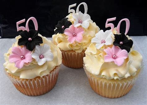 50th Birthday Cupcakes in 2019   Janice 50th party   50th