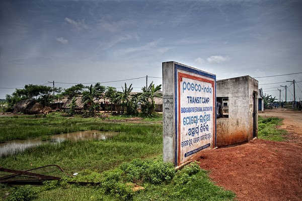 The transit camp of POSCO, India that has been set-up for the few villagers who are so-called Pro-POSCO. Image by Ayush Ranka . Copyright Demotix (22/7/2011)