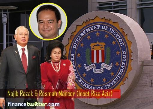 FBI Department of Justice DOJ - Najib Razak and Rosmah Mansor - inset Riza Aziz