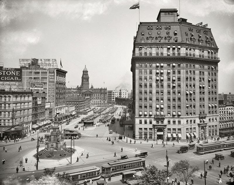 Cadillac Square Detroit, Michigan 1916