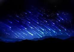 A chuva de meteoros não deve ser tão intensa quanto a da ilustração acima.