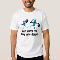 Funny music, taking notes t shirt