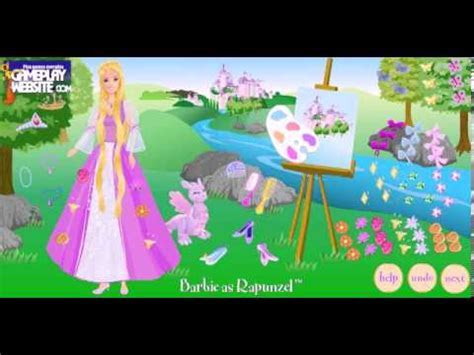 barbie as rapunzel barbie very beautiful barbie dress up