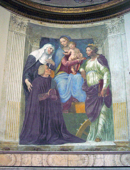 File:S M della Pace - cappella Ponzetti madonna, s Brigida e il cardinale (Peruzzi) 1270955.jpg