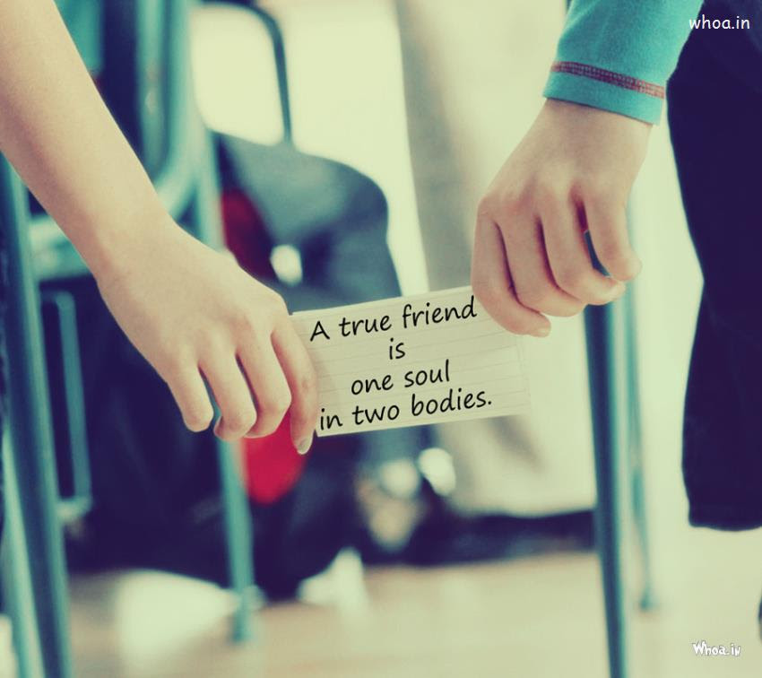 A True Friend Friendship Day Quote In Couples Hand Love Image Photo