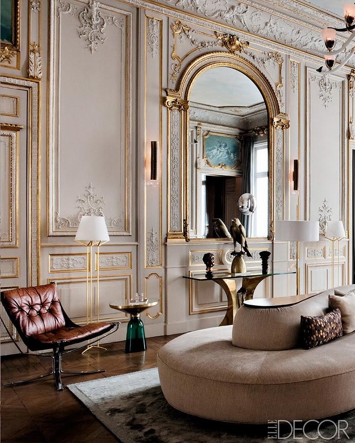 Elle Decor retornar à forma um apartamento em Paris moderna 6