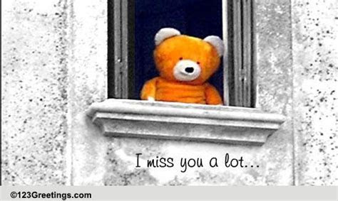 I Miss You A Lot  Free Miss You eCards, Greeting Cards