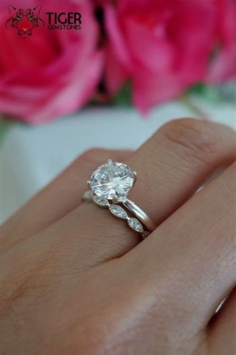 SALE 2 Carat Art Deco Round Solitaire Wedding by