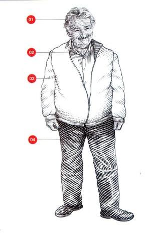 José Mujica, el elegante, según el ilustrador de la revista internacional sobre política, cultura y tendencias Monocle