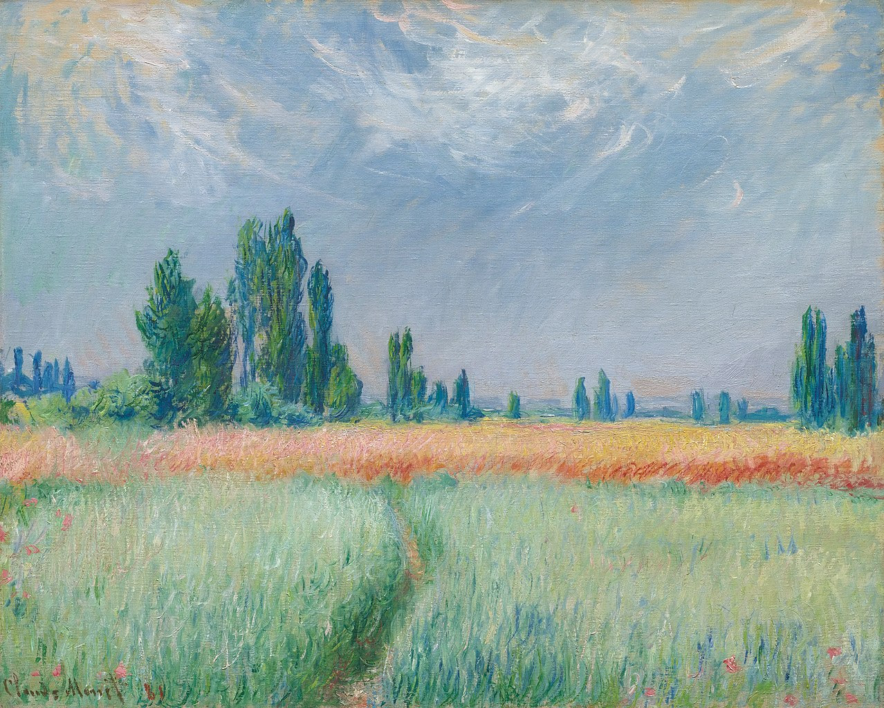 Claude Monet Champ de blé. 1881
