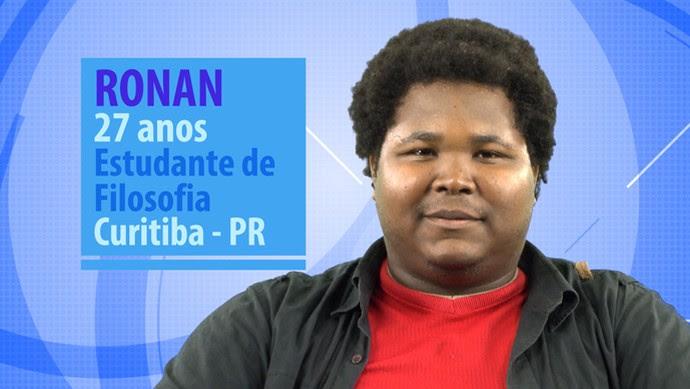 Ronan é participante do BBB16 (Foto: Gshow)