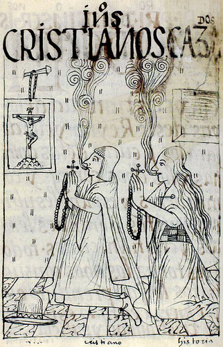 A Christian married couple of the Andes, from the Book of Guaman Poma