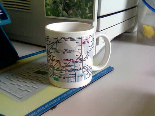 London Underground Anagram Map Mug