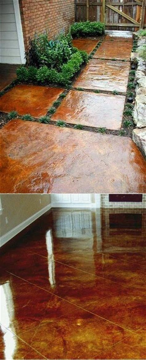images  stained concrete stepping stones
