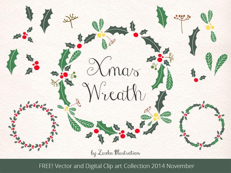 クリスマスに使える無料デザイン素材コレクション35個まとめ 2014年版