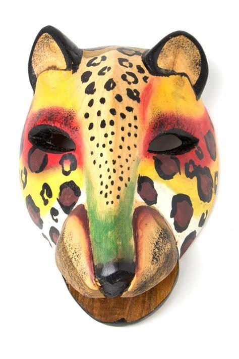 Colorful Kenyan Cheetah Mask   WOOD CARVING