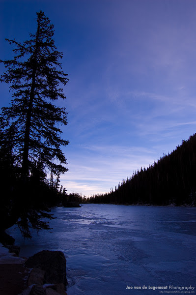 Frozen lake sunrise
