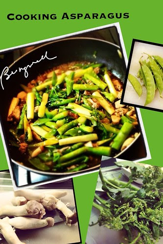 Cooking Saute'd Asparagus and Broccoli