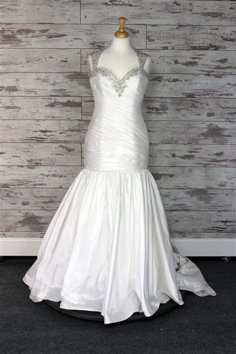 Allure Bridals Fit  And  Flare Wedding Dress (White