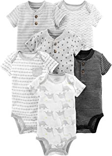 Baby Clothes Boy - Simple Joys by Carter's Boys' 6-Pack Short-Sleeve Bodysuit