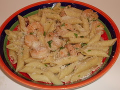 Shrimp with Sun-dried Tomatoes & Penne