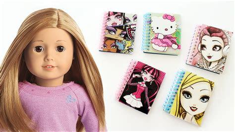 american girl spiral notebooks dollhouse diy