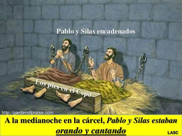 Resultado de imagen de Pablo y Silas Cantando en la prisión