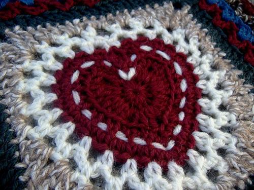centre heart square - closeup